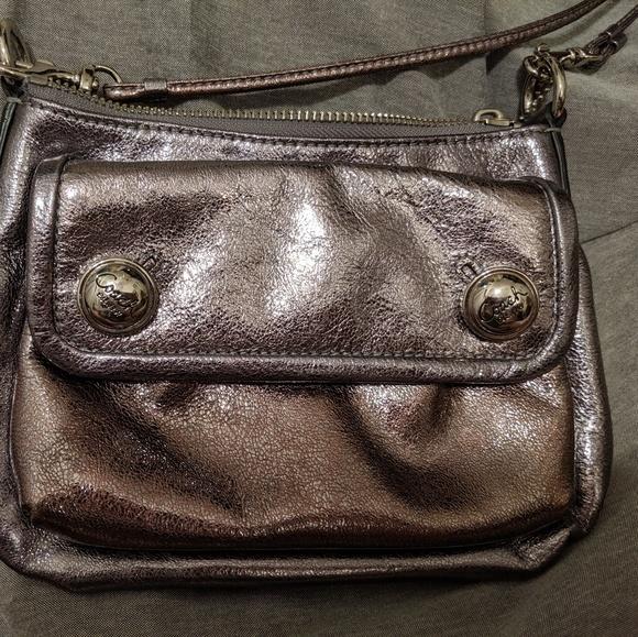 Coach Handbags - Coach Poppy Silver Bag EUC